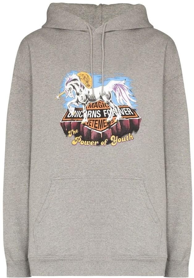 Vetements Magic Unicorn print hoodie