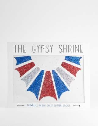 The Gypsy Shrine Halloween Body Clown Sticker-Multi