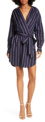 A.L.C. Imogen Striped Belted Shirt Dress