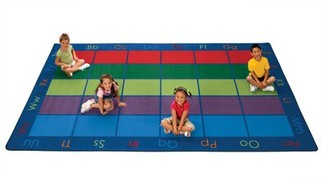 "Colorful Seating Places Area Rug Carpets for Kids Rug Size: Rectangle 7'6"" x 12'"