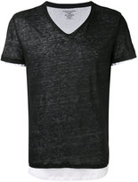 Majestic Filatures layered T-shirt - men - Cotton/Linen/Flax - S