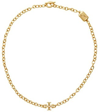 Tory Burch Torsade Short Necklace (Rolled Brass) Necklace