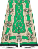 Gucci Garden Chains print silk Bermuda shorts