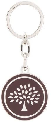 Mulberry Round Tree Logo Keyring