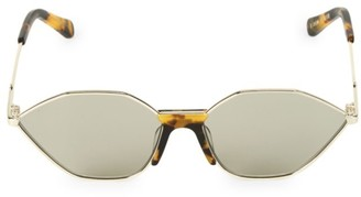 Karen Walker 60MM Game Crazy Tortoiseshell Oval Sunglasses