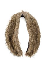 Quiz Brown Faux Fur Stole