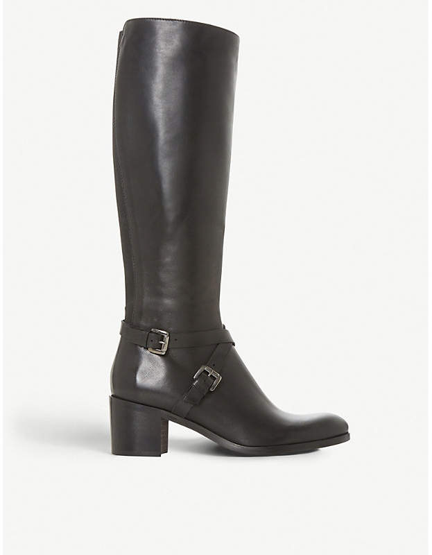 ba170b1dc4a Black Torney knee-high leather boots