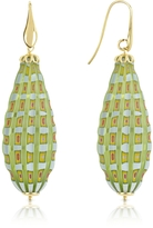 Murano House of Old Venice - Oval Gold Foil Drop Earrings