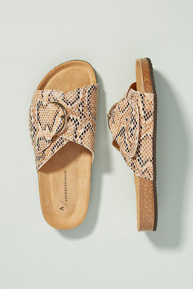 Anthropologie Ariane Buckled Slide Sandals By in Assorted Size 36