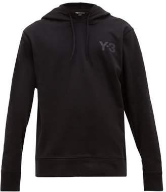 Y-3 Y 3 Hooded Logo Cotton Jersey Sweatshirt - Mens - Black