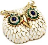 Kenneth Jay Lane Large Owl Face Brooch