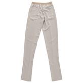 Maison Margiela Beige Polyester Trousers