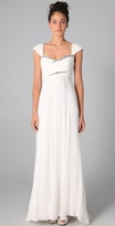 Marchesa notte Empire Gown with Rhinestones