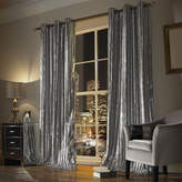 Kylie Minogue at Home - Iliana Lined Eyelet Curtains - Silver - 168x137cm
