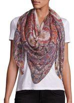 Etro Bombay Floral Cashmere & Silk Scarf