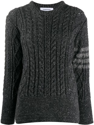 Thom Browne 4-Bar stripe cable-knit jumper