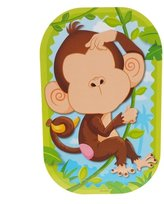 Homeford FMC000CK249B Funny Faces Sticker Monkeying Around 3D Set