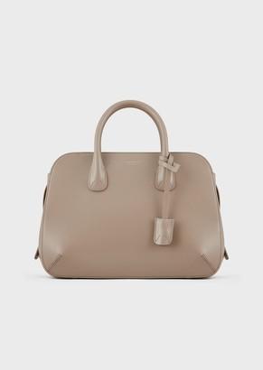 Giorgio Armani La Prima Tote Bag In Shiny Elaphe Snake Skin