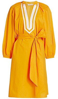 Tory Burch Puff-Sleeve Tunic Dress