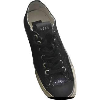 Golden Goose V-Star Black Glitter Trainers
