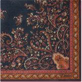 Drakes Paisley Wool-silk Pocket Square