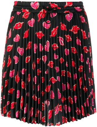 Moncler Printed Pleated Skirt