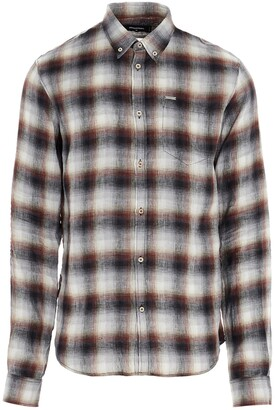 DSQUARED2 Checked Button Down Sharpei Sleeve Shirt