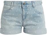 Stella McCartney Star-embroidered denim shorts
