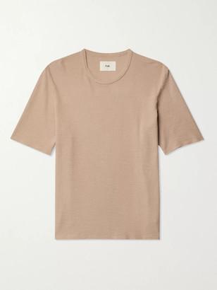Folk Assembly Waffle-Knit Organic Cotton T-Shirt - Men - Neutrals