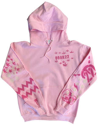 Singer22 Exclusive Ooak22 Baby Pink Hoodie All Over One Of A Kind