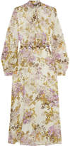 Giambattista Valli Printed Embellished Silk-georgette Midi Dress - Ivory
