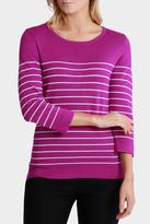 Thin Stripe 3/4 Sleeve Jumper