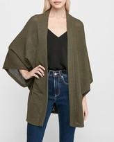 Express Soft Waffle Knit Kimono Cardigan