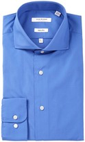 Isaac Mizrahi Solid Broadcloth Slim Fit Dress Shirt