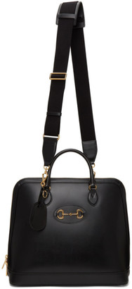 Gucci Black Large 1955 Horsebit Top Handle Tote