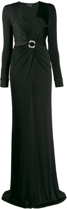 Philipp Plein Elegant Plunge Neck Dress