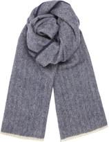 Jigsaw Wool Herringbone Scarf