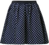 GUILD PRIME polka dot pleated a-line short skirt - women - Polyester/Cupro - 36