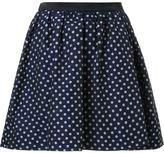 GUILD PRIME polka dot pleated a-line short skirt
