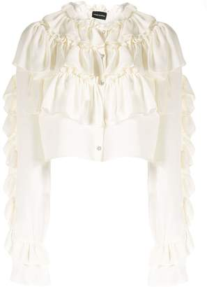Magda Butrym new romantic cropped blouse