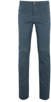 Boss Maine3 Dark Teal Regular Fit Twill Cotton Jeans