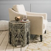 Graham and Green Zagora Black Bone Inlay Side Table