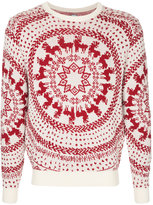 Anrealage embroidered crew neck jumper