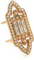 Elizabeth Cole Golden Crystal Ring