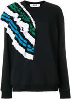 MSGM ruffle detail sweater
