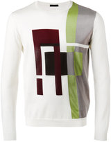 Pal Zileri geometric pattern sweater - men - Silk/Cotton - 46