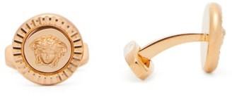 Versace Medusa Coin Cufflinks - Mens - Gold