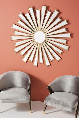 Anthropologie Starburst Deco Mirror By in Brown Size M