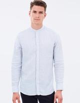 Hackett Plain Dyed Linen Shirt