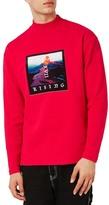 Topman Volcano Graphic Turtleneck Sweatshirt
